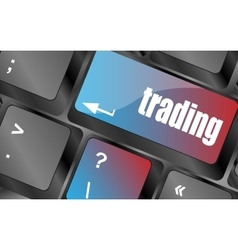 Trading keyboard representing market strategy - vector