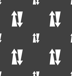 Two way traffic icon sign Seamless pattern on a vector