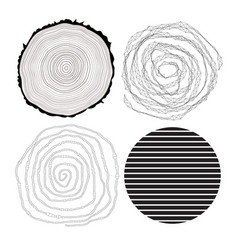 various abstract patterns vector image