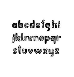 Vintage floral bold letters alphabet logo spring vector