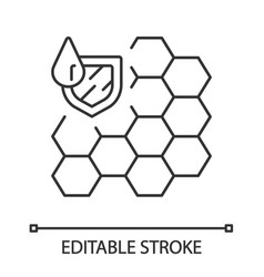 Waterproofing membrane linear icon vector
