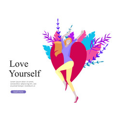 web page design template for beauty dreams vector image