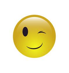 wink smile icon vector image