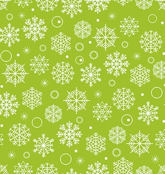 Winter seamless background with snowflakes vector