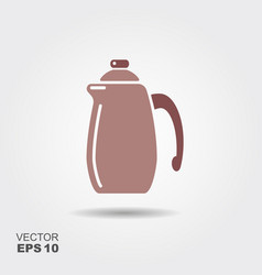 With coffee pot vector