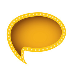 Yellow oval chat bubble icon vector