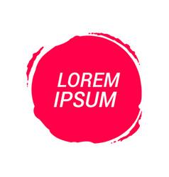 circle label stickers splash icon flat web sign vector image
