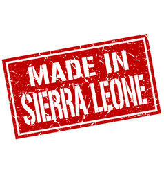 made in sierra leone stamp vector image vector image