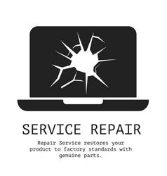 service repair banner vector image vector image