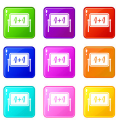 board icons 9 set vector image
