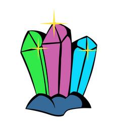 crystals icon icon cartoon vector image