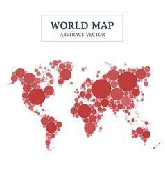 World Map Circle and Dot Design vector image vector image