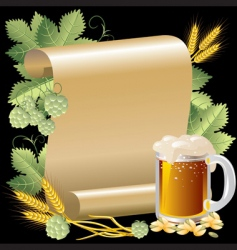 beer and roll vector image vector image