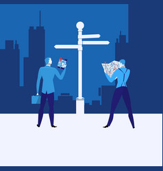 business strategy concept in vector image