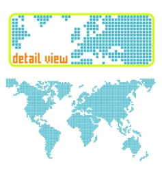 dotted world vector image vector image