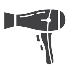 hair dryer solid icon household and appliance vector image