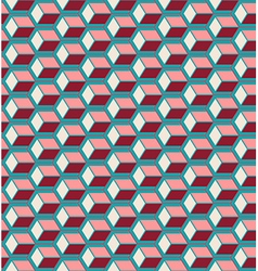 Red cubes seamless pattern vector image vector image