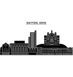 usa dayton ohio architecture city skyline vector image