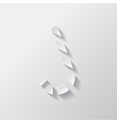 Candy cane web icon vector image