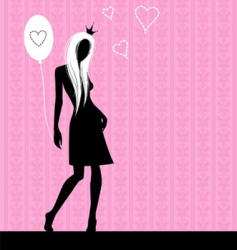 pink love vector image vector image