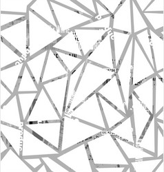 structure of triangles with a collage of vector image vector image