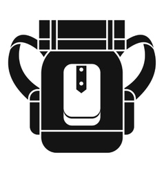 Tourist backpack icon simple style vector image vector image