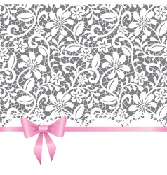 wedding card with bow vector image