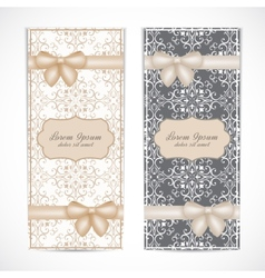 Weddings invitation card in the vintage style vector image