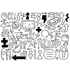 0008 hand drawn doodle elementals businesses vector