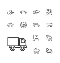 13 truck icons vector