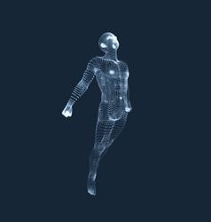 3d model of man human body design element vector