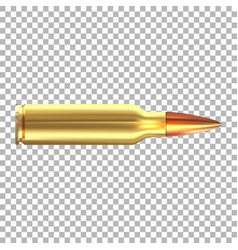 3d realistic rifle bullet isolated vector image
