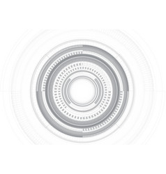 abstract grey circle line system on white vector image