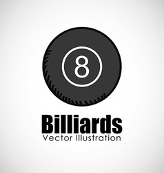 billiards ball design vector image