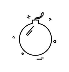 bomb icon design vector image