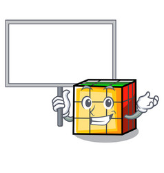 Bring board rubik cube character cartoon vector