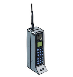 Cartoon image of mobile phone vector
