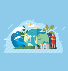 change climate concept recycling waste growing vector image