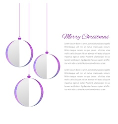 Christmas balls cutted from papaer vector