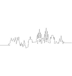 cityscape of prague vector image