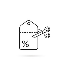 Coupon icon like low cost vector