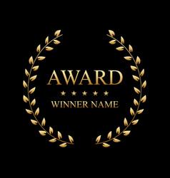 Creative of the best award vector