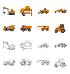 design of build and construction sign set vector image