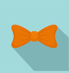 fashion bow tie icon flat style vector image
