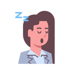 female napping emotion icon isolated avatar woman vector image