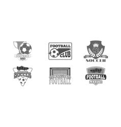 Football sign badge vector image