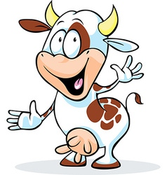 funny cow character vector image