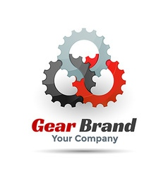 Gear Template Color Logo Creative colorful vector image