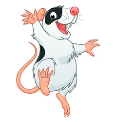 Happy rat pet vector image