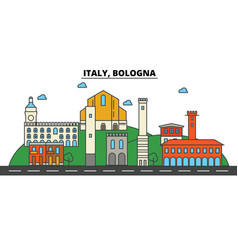 Italy bologna city skyline architecture vector